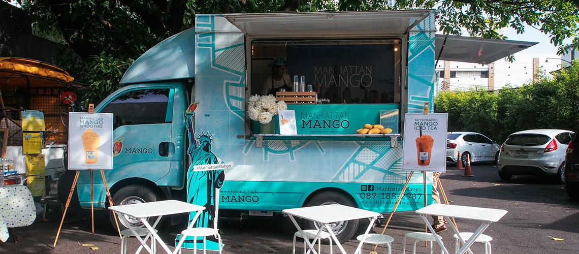 Manhattan Mango : Food Truck สีสดใสที่ดึงดูดใจลูกค้าด้วยเมนูมะม่วง