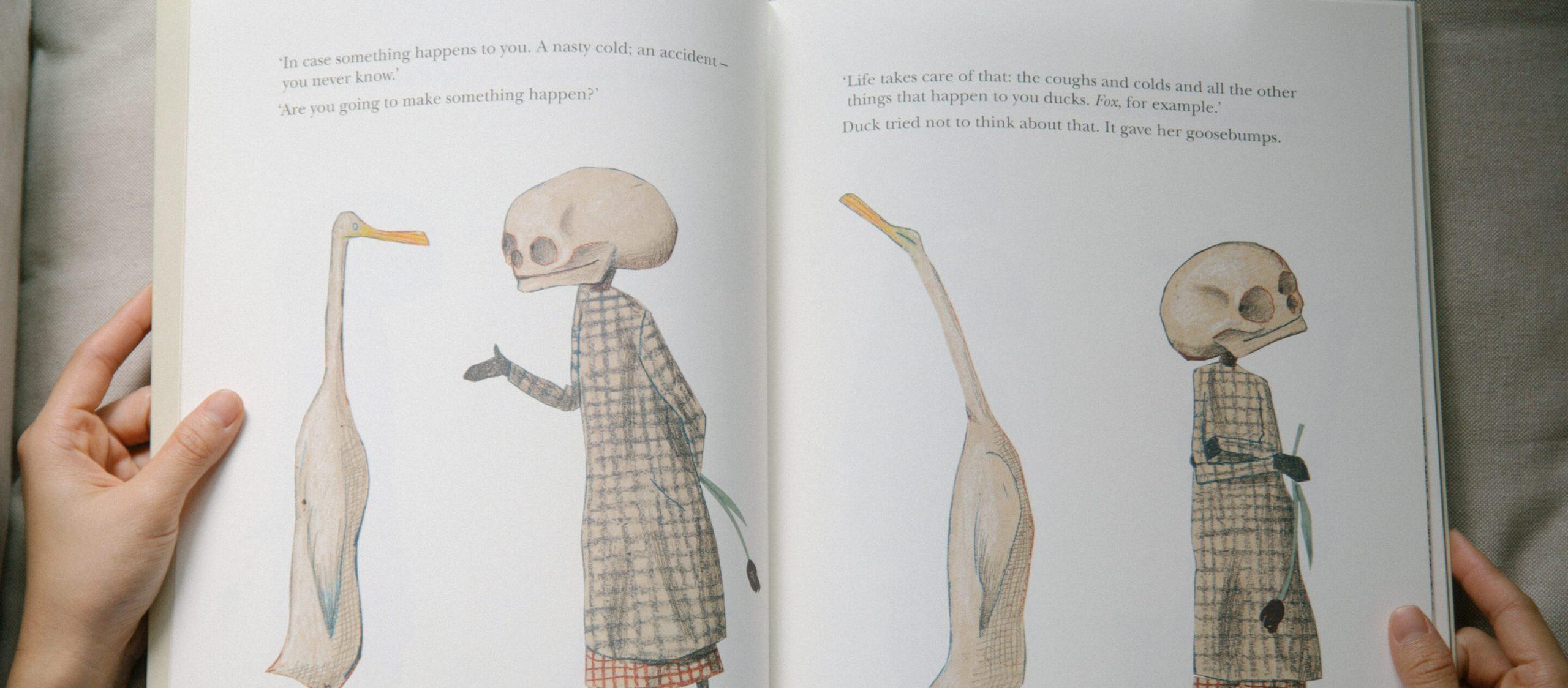 Duck, Death and the Tulip หนังสือภาพที่สอนให้เด็กรู้จักความตาย
