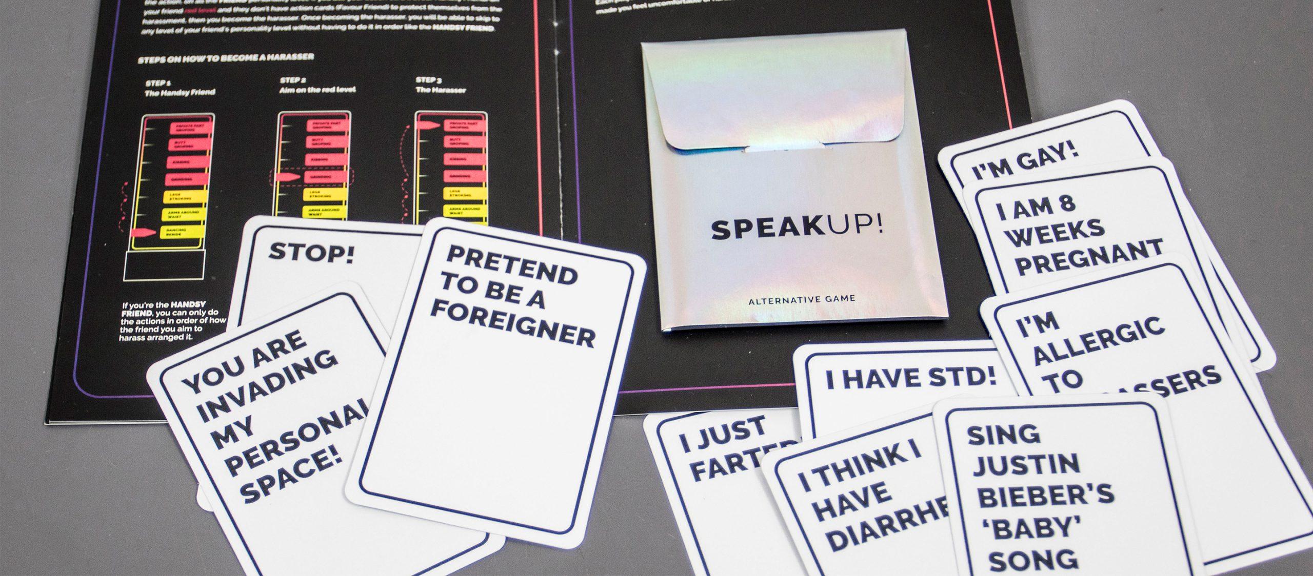 SPEAKUP! : บอร์ดเกมที่อยากให้ทุกคนกล้าพูดว่า 'หยุด!' เมื่อถูกคุกคามทางเพศ