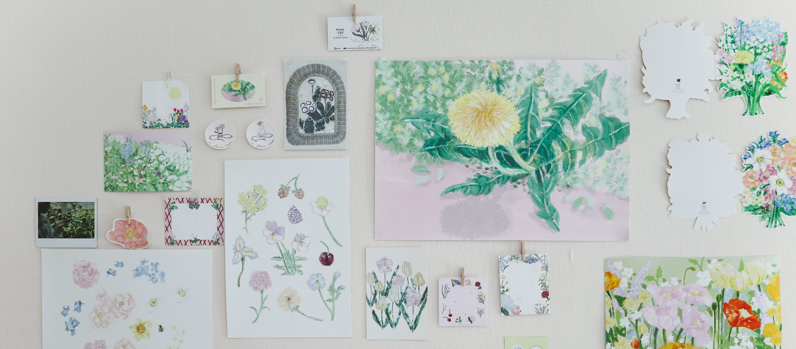 In Flower Lesson ศิลปินผู้วาดดอกไม้เพื่อส่งต่อความชื่นใจให้ทุกคน