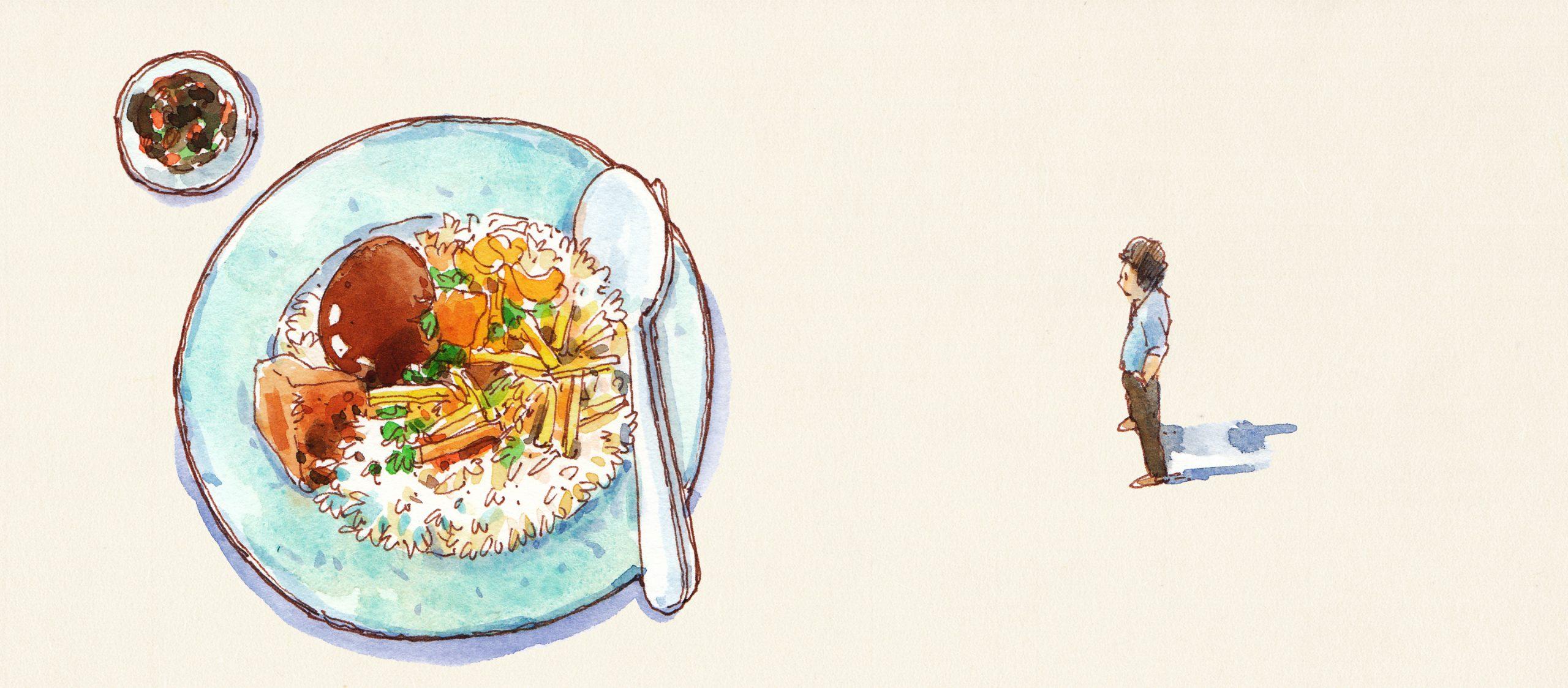 บางทีเราก็มีความสุขกับการได้กินข้าวราดแกงที่ถูกต้อง หรืออาหารผงชูรสเพียบ ประโยชน์ต่ำด้วยใจเบิกบาน