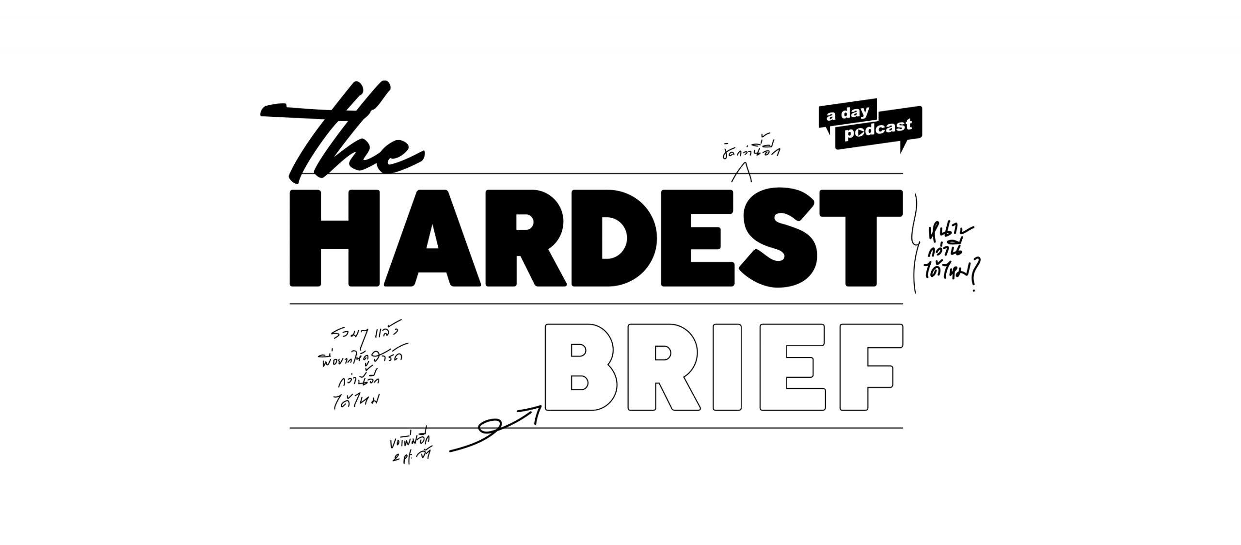 The Hardest Brief EP.00 แตกบรีฟรายการกับ ก้อง–ชณัฐ วุฒิวิกัยการ