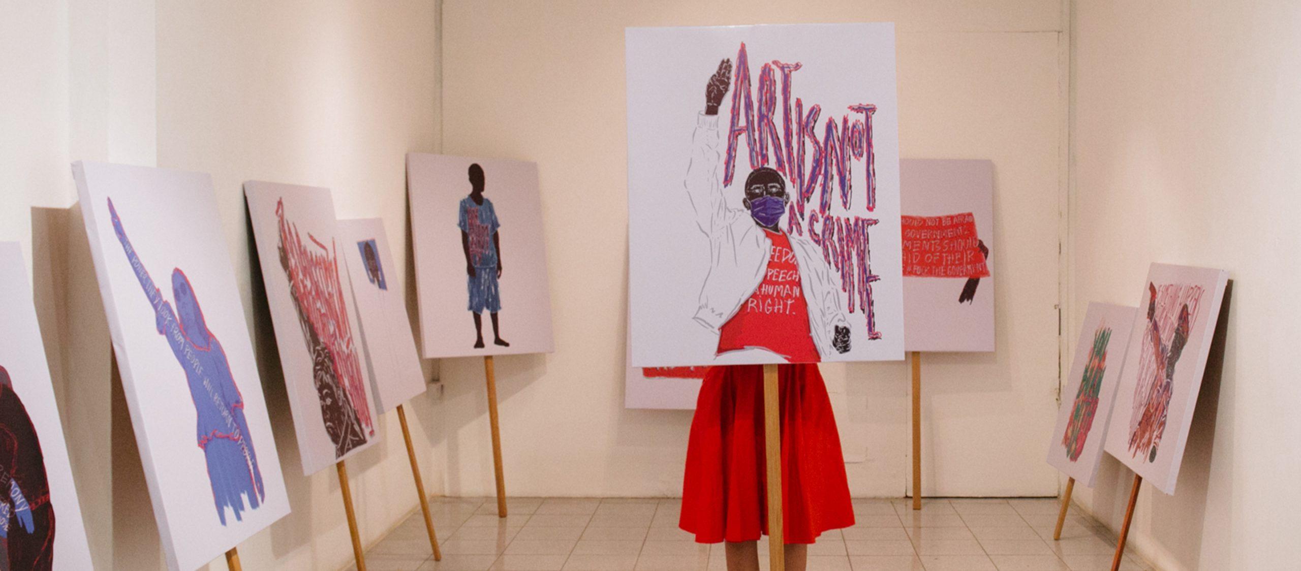 พื้นที่ศิลปะ พื้นที่แห่งการแสดงออก WTF Gallery and Cafe แกลเลอรีที่ใช้ศิลปะสะท้อนภาวะสังคม