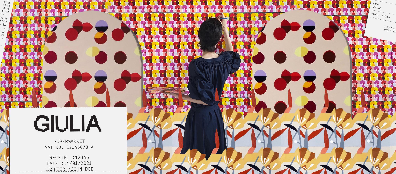 Giulia Peyrone ศิลปินไทย-อิตาเลียนผู้ลงมือออกแบบแพตเทิร์นสู่แบรนด์ GIULIA และงานศิลปะในอิตาลี