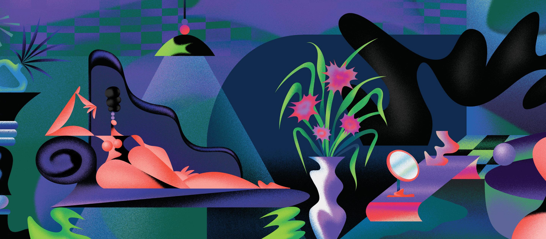 Nina Sach นักวาดที่สนุกกับการทดลองเทคนิคใหม่ๆ แล้วถ่ายทอดผ่านรูปทรงและสีสัน